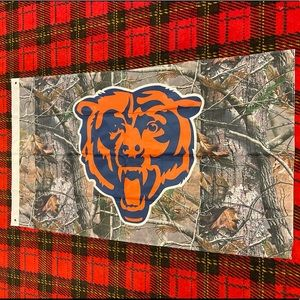Brand new Chicago Bears Camo banner flag